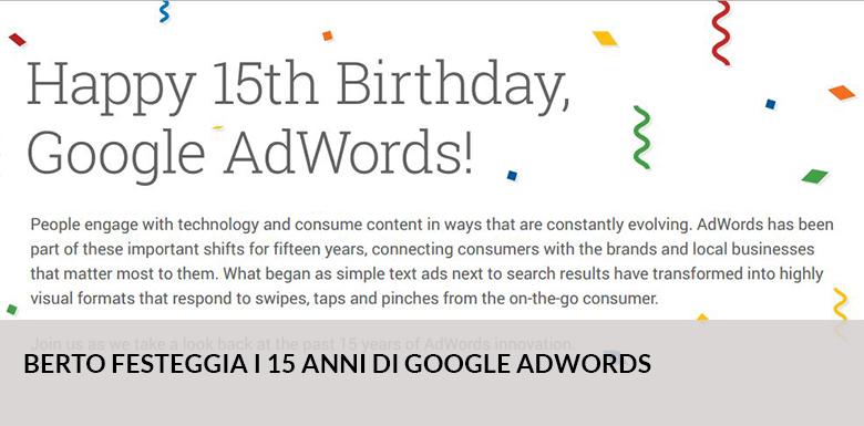 Google AdWords Feiert Heute Seinen 15. Geburstag