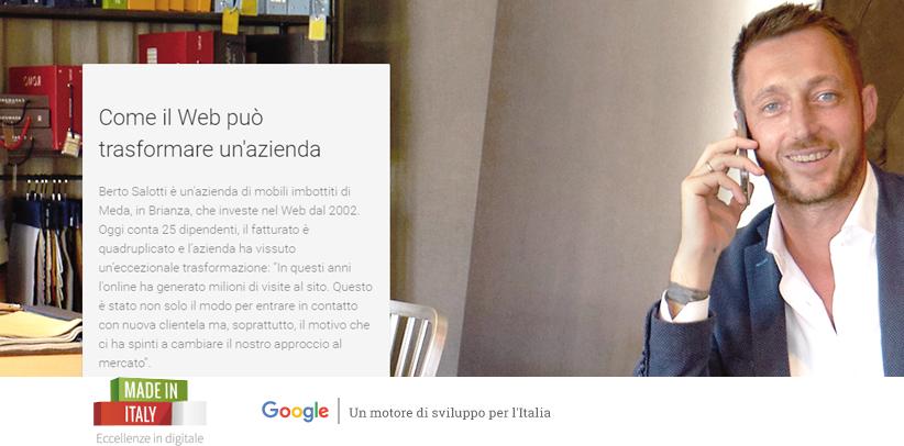BertO in dem neuen Projekt Made in Italy - Eccellenze in Digitale
