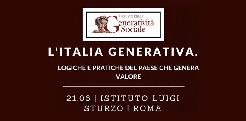 Filippo Berto nimmt an dem Meeting von Archivio della Generatività Sociale teil