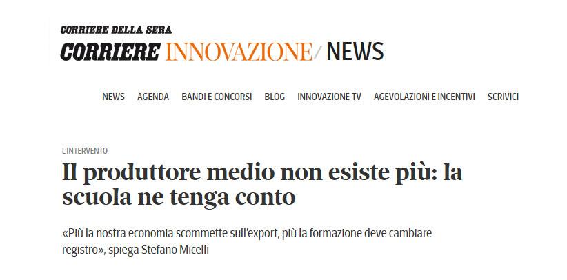 BertO auf Corriere Innovazione: Der mittlere Hersteller existiert nicht mehr