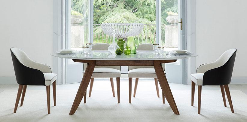 Stühle Judy und Tische Ring