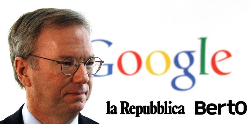 Eric Schmidt und Berto auf Repubblica