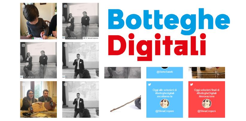 Filippo Berto trifft die Finalisten von Botteghe Digitali