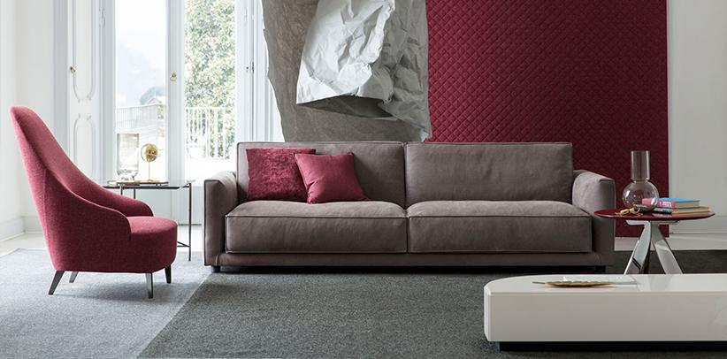 Ribot – wasserabweisendes Sofa aus Nubukleder