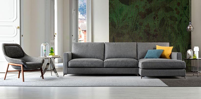 Neues Sofa Jimmy mit hohen Stahlfüßen berto salotti Collection