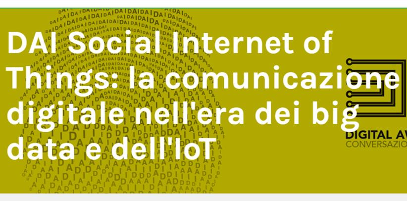 Filippo Berto nimmt an der Konferenz Big Data und IoT in Mailand teil