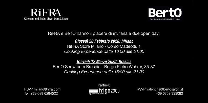 BertO & RiFRA: Open day in Milan