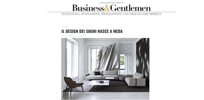 BertOs Design Made in Meda auf der Business & Gentlemen-Website