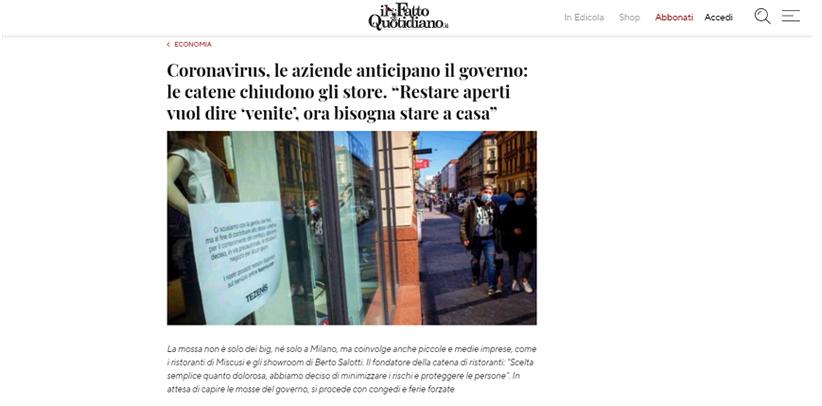 Filippo Berto nimmt die Entscheidungen der italienischen Regierung vorweg. Lesen Sie sein Interview in der Zeitung Il Fatto Quotidiano