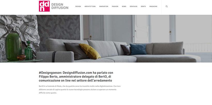 Design und neue Technologien: Interview von Filippo Berto auf DDN