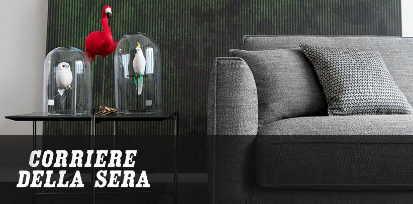 Perfekte Stoffe für perfekte Sofas: das Traumdesign von BertO in der italienischen Zeitung Corriere della Sera