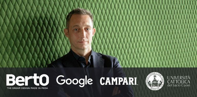 berto, google und campari sprechen mit den studenten der università cattolica