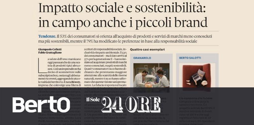 BertO auf Il Sole 24 Ore: beispielhafter Fall sozialer Verantwortung
