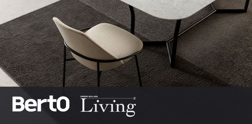 Designstuhl Jackie BertO auf Living Corriere della Sera