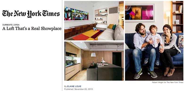 Design Apart - Living Showroom in der New York Times