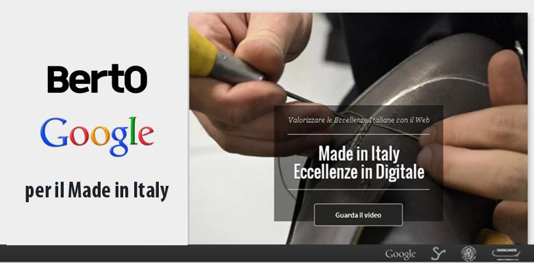 Made in Italy, gefördert von BertO und Google
