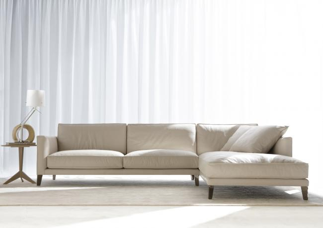 TIME BREAK. Modulares Ecksofa Aus Leder