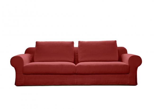 Outlet sofa callas rot leinen berto shop for Ledersofas outlet