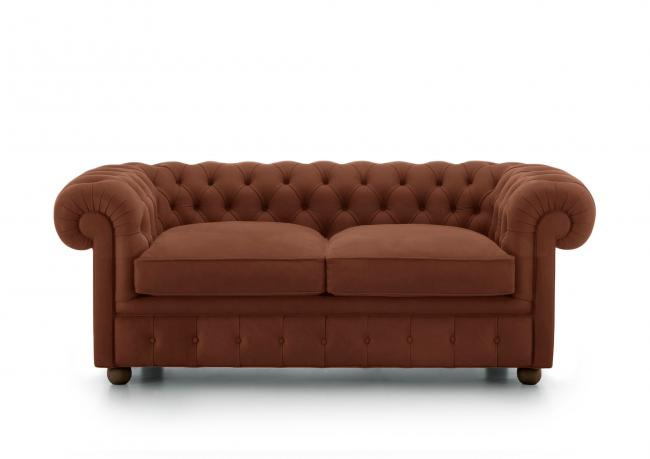 Outlet 2 sitzer maxi sofa chester berto shop for Ledersofas outlet