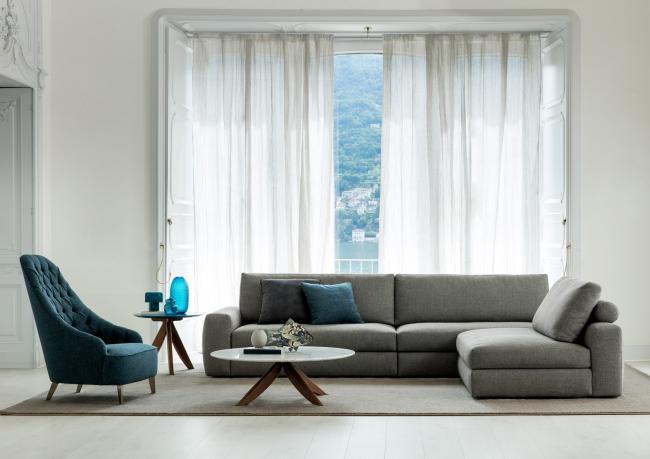 Sofa mit separater Chaise Longue - Berto Salotti