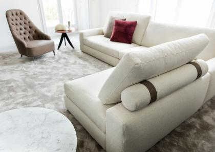 Sofa mit separater chaise longue berto salotti - Tipi di divano ...