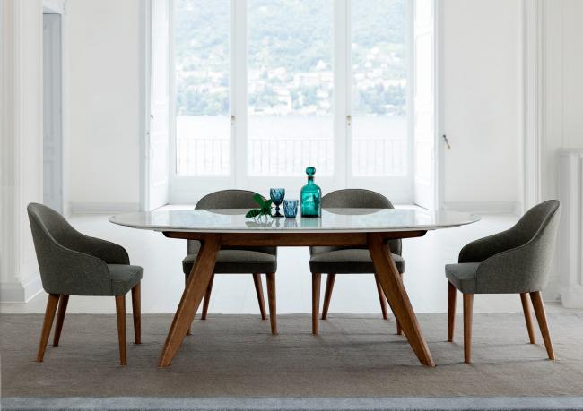 Ring tisch mit marmorplatte berto salotti for Tisch mit marmorplatte