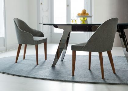 Ring tisch mit marmorplatte berto salotti for Poltroncine per sala da pranzo
