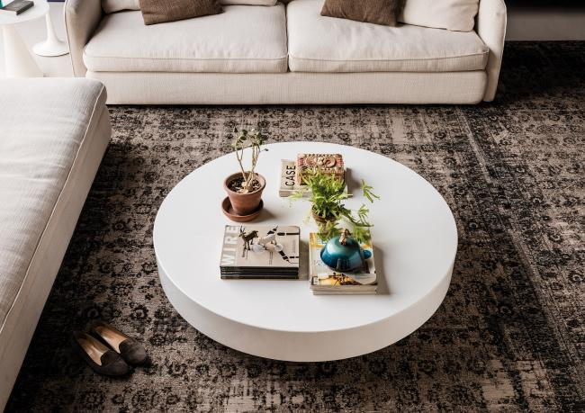 arena weisser runder couchtisch berto shop. Black Bedroom Furniture Sets. Home Design Ideas