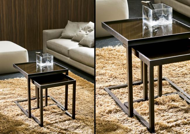 zwei couchtische aus holz berto shop. Black Bedroom Furniture Sets. Home Design Ideas