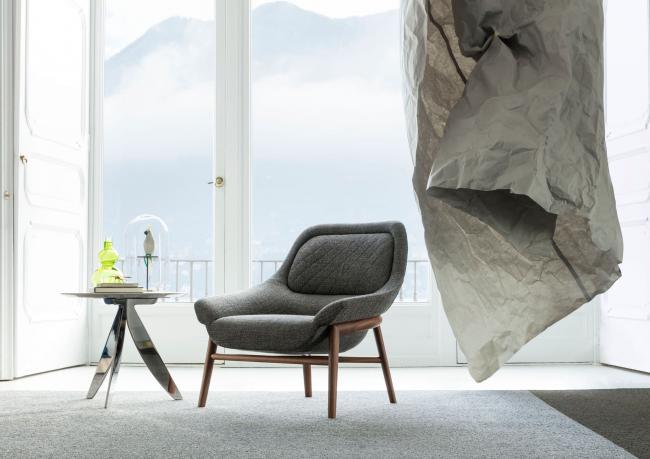 Sessel mit Massiver Holzstruktur - Berto Salotti