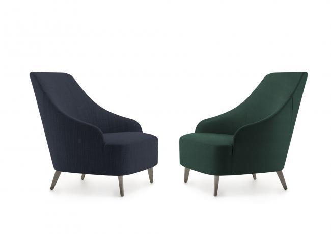 OUTLET | Sessel Emilia mit Stahlfüße - BertO Shop