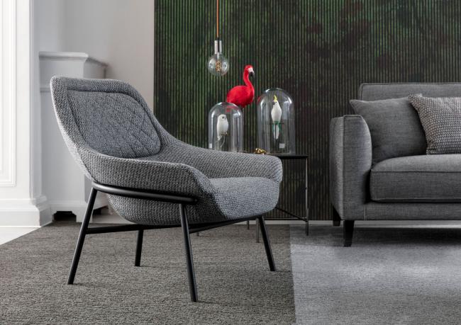 Designer-Sessel mit Metallgestell Hanna – Berto Salotti